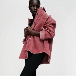 NWOT Zara Corduroy Shirt Jacket